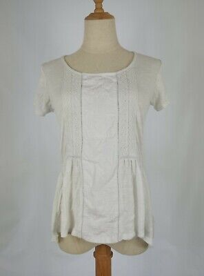 Fat Face Size 12 Peasant Top Gypsy White Lace Embroidered  • 11.99£