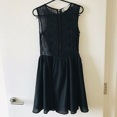 Hearts & Bows Lace Skater Dress Uk 8 • 5£