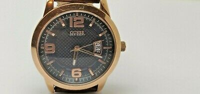 £45 • Buy Guess District Watch Mens W0494g2 Rose Gold Stainless Steel, Leather   (281d)