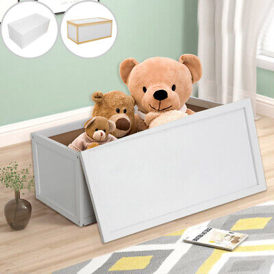 New Wooden Toy Box Storage Unit Childrens Kids Chest Toyboxes Strong Toybox Uk • 25.99£