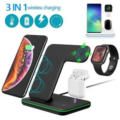 3-in-1 Wireless Charger Dock 15W Qi Fast Charger Stand For AirPods/iPhone/iWatch • 18.99£