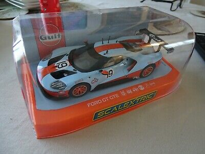 SCALEXTRIC C4034 FORD GTE GULF EDITION No.19 MIB LIGHTED XENON DPR BLUE/ORANGE • 4.46£