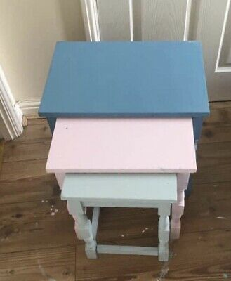 Nest Of Tables Hand Painted In Chalk Paint • 25£