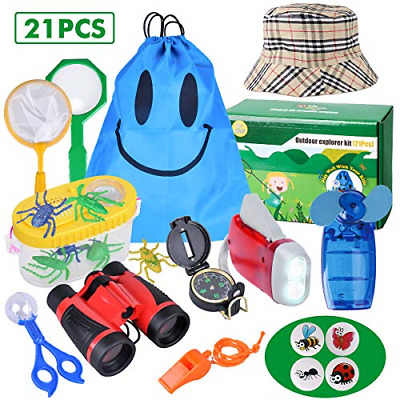 Outdoor Explorer Kit - 21 Pack Kids Bug Catcher Toys Gifts For 3 4 5 6-10 Years • 23.33£
