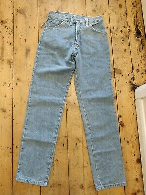 Deadstock Vintage Stone Wash Blue Mom High Waisted 90's Cosmic Straight Leg... • 19.10£