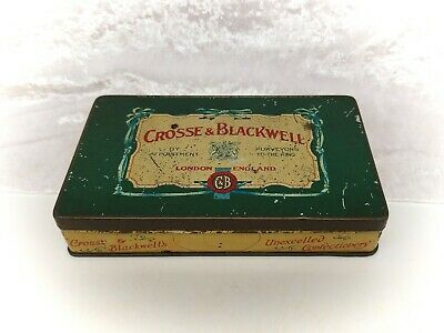 Vintage Tin-Crosse & Blackwell-Green-Sweets/Confectionery/Advertising • 11.99£