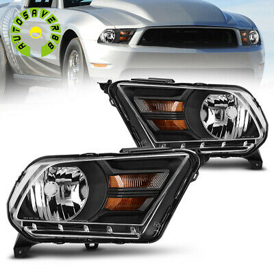 $77.99 • Buy For 2010-2014 Ford Mustang Black Houisng Clear Lens Headlight Headlamp Lamps