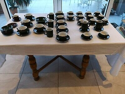 Aplico French Bistro Coffee - 1970s Porcelain - 52 Piece Lot - Cups Saucers Jugs • 80£