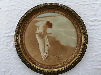 William Henry Margetson Sea Has Its Pearls - Early 20th C Print Circular Frame • 125£