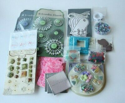 Card Making And Scrapbooking Craft Embellishments - Assorted Bundle • 3.50£