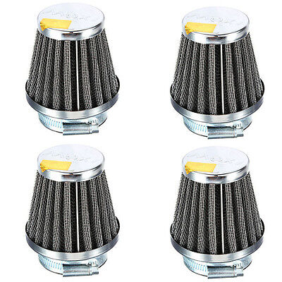 £12.89 • Buy Universal Motorcycle Power Cone Race Air Filter 50MM Filters Chrome For Scooter