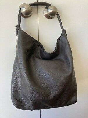 AU75 • Buy Oroton Hobo Handbag, Charcoal, Excellent Condition 14cm X 16cm