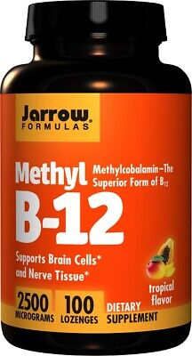 Jarrow Formulas Methyl B-12 2500mcg/500mcg Methylcobalamin Vitamin B12 Lozenges • 21.95£