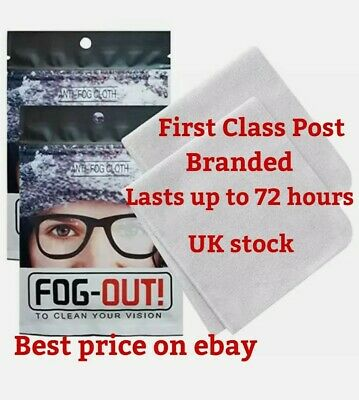 Anti Fog Glasses Lens Fabric Cleaning Cloth Wipe 4320 Hours Of Fog-Free Living • 2.75£