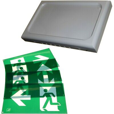 LED Emergency Panel Light Exit Escape Sign 3hr Backup Maintained Non-Maintained • 17.95£