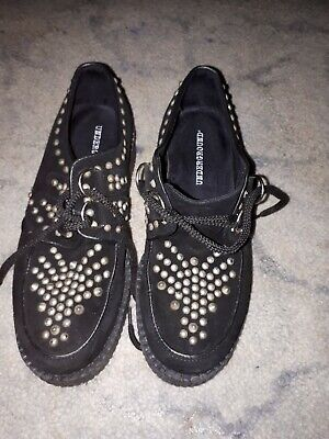Underground Black Suede Studded Creepers Size 5.5 • 25£