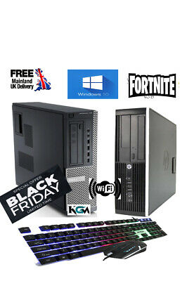 FAST GAMING DELL BUNDLE  FULL SET COMPUTER SYSTEM INTEL I5 8GB 500GB  GT710 • 149.99£