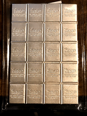 AU255 • Buy 5 Oz. 0.999 Silver Bar - Snap Divisible Barter Currency – By Elemetal