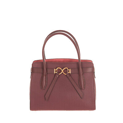 $ CDN69.19 • Buy RRP €295 KATE SPADE NEW YORK Leather Tote Bag HANDCRAFTED Grainy Logo Clasp