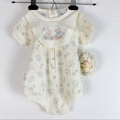 NWT Vintage Deadstock Charter Club Baby Bears Infant One Piece Set 6-9 Months • 12.87£