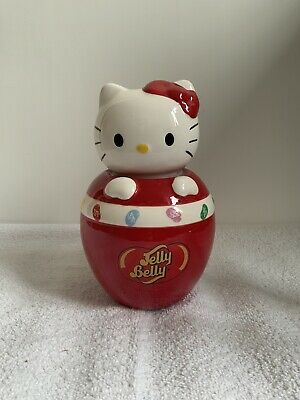 £10.99 • Buy Official HELLO KITTY JELLY BELLY Ceramic Jelly Bean Sweetie Jar RARE