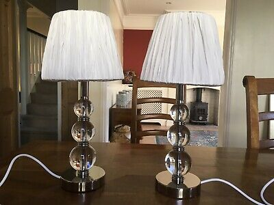 Laura Ashley Selby Lamps  X2 With Lampshades In Immaculate Condition • 100£