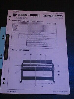 AU92.17 • Buy ROLAND Für HP-1000 S / 1000 SL Digital Piano  Service Notes Gebraucht Original