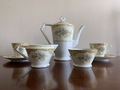 Beautiful Art Nouveau Gilded Noritake Coffee/tea Set • 50£