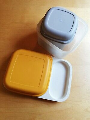 2 X Vintage Retro Tupperware Storage Boxes Including Ice Box And Sandwich Tray • 5£