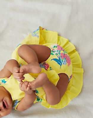 Joules Baby Girls Bunty Woven Dress  - Yellow Floral - 3M-6M • 5.69£