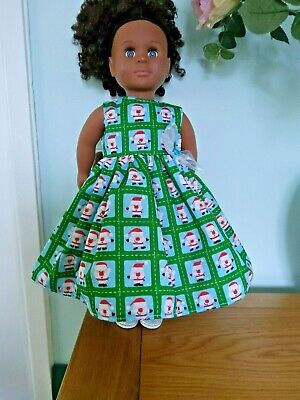 Green Santa Dress To Fit Our Generation American Girl Dolls Handmade  • 4.99£