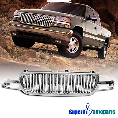 $215.98 • Buy For 2000-2006 GMC Sierra Yukon 1500 2500 ABS Vertical Front Hood Grill Grille