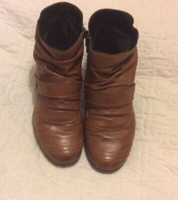 Reiker Tan Leather Ankle Boots Size 5 • 5.10£