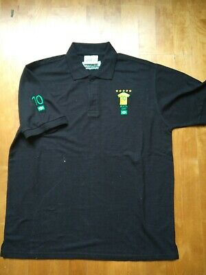 Men's Black Iconic Numbers (Brazil) Polo T-Shirt (size M) • 2.99£
