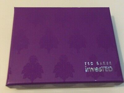 New Ted Baker Invested Purple Gift Box Ideal For Wallet/jewellery/tie/c.c Holde • 1.99£