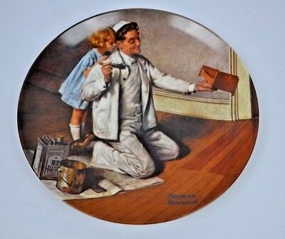 $ CDN12.98 • Buy Norman Rockwell - The Painter - Collector Knowles Limited Plate Rockwell Heritag