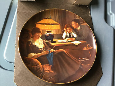 $ CDN19.45 • Buy Knowles China Plate Norman Rockwell Father's Help