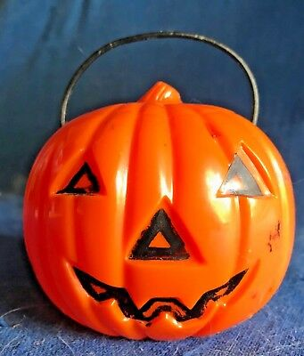 $ CDN50.15 • Buy Vintage Rosbro Halloween Hard Plastic Jack-o'-lantern W/handle Light Lamp Union