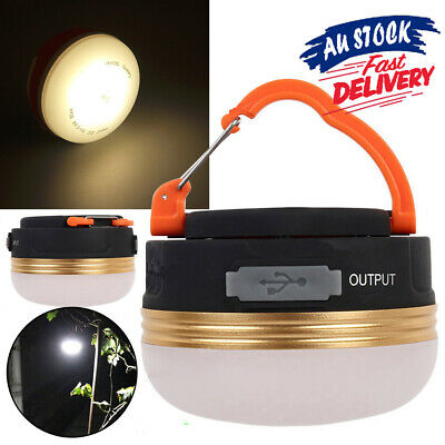 AU15.49 • Buy USB Rechargeable LED Camping Light Tent Lantern Super Bright Night Lamp Outdoor