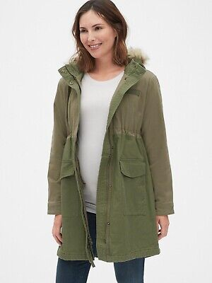 Gap Maternity Utility Parka Jacket, Size M Green • 20£