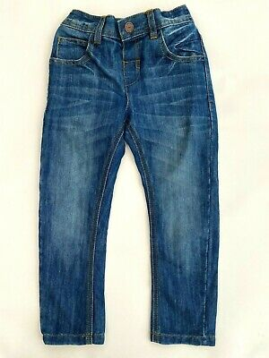 New Ex M*S Boys Blue Distressed Denim Faded Elasticated Waist Pull On Jeans  • 6.99£