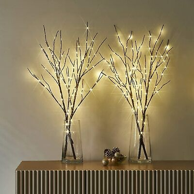LED Romantic Twigs Bead Lights Up Warm White Branch Filler Willow Tree Twig Lamp • 14.21£
