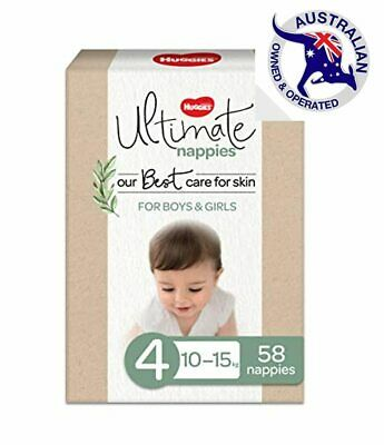 AU46.95 • Buy Huggies Ultimate Nappies, Unisex, Size 4 (10-15kg), 58 Count