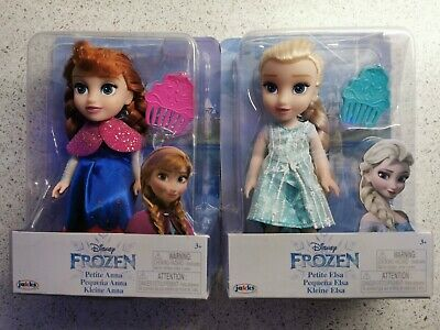 Disney Frozen Petite Anna & Elsa Toddler Dolls, New In Boxes. Come Play With Me. • 30.99£