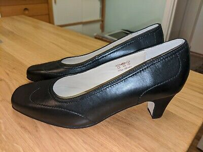 Ladies Equity Wide Fitting Court Shoes 'Alison' Black  Size 5 • 10.99£