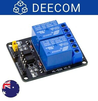 AU8.75 • Buy 5V Dual / 2 Channel Relay Module With Optocoupler Isolation