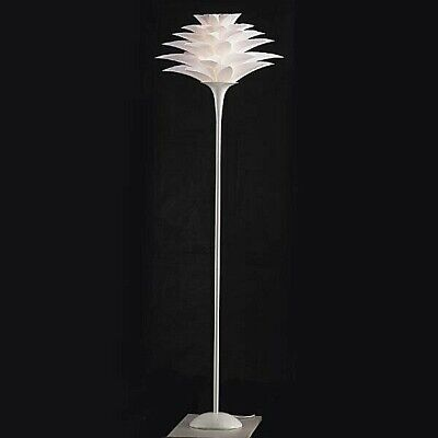 Tall Lotus Flower Floor Lamp ~ Pure White Blossom Shade ~ Zen Asian Decor, 69  H • 193.63£