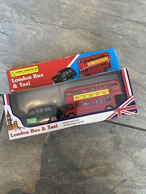 London Bus & Taxi Toy Cars Souvenir New In Box Christmas Gift • 1.99£