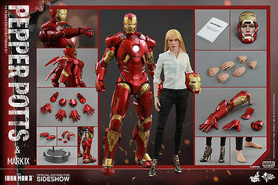 $ CDN558.22 • Buy 1/6 Scale Iron Man 3 Pepper Potts And Mark IX Set Of 2 By Hot Toys