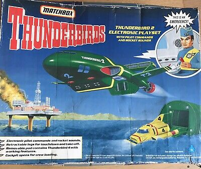 Boxed Vintage 1992 Matchbox Large Thunderbirds 2  Electronic Playset - Unopened • 9.50£